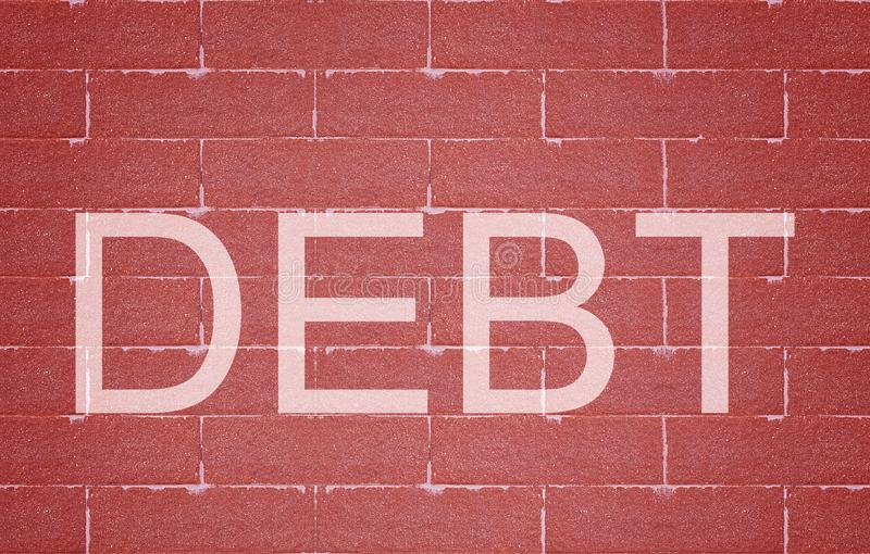 Debt Concept Background stock image
