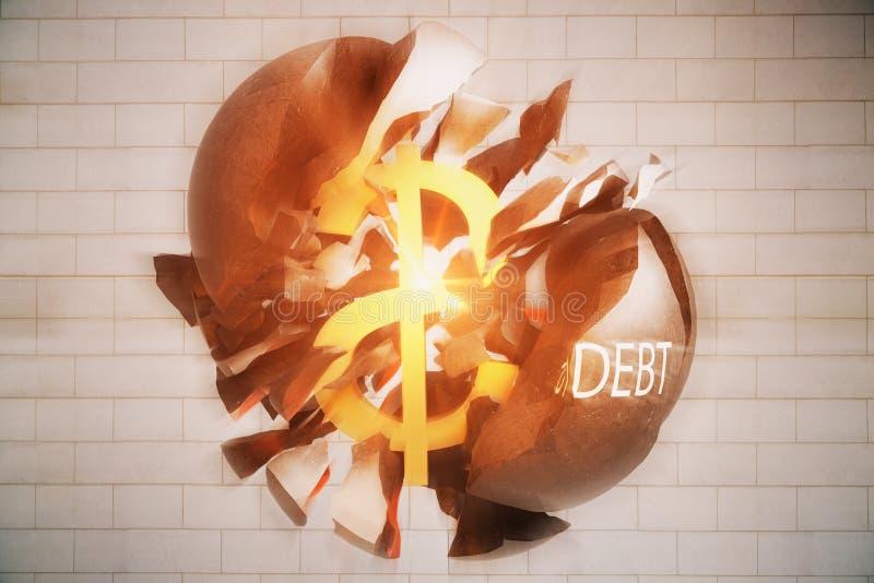 Debt concept royalty free illustration