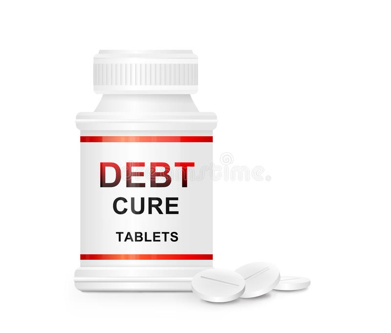 Download Debt Cure Concept. Stock Photography - Image: 23310282