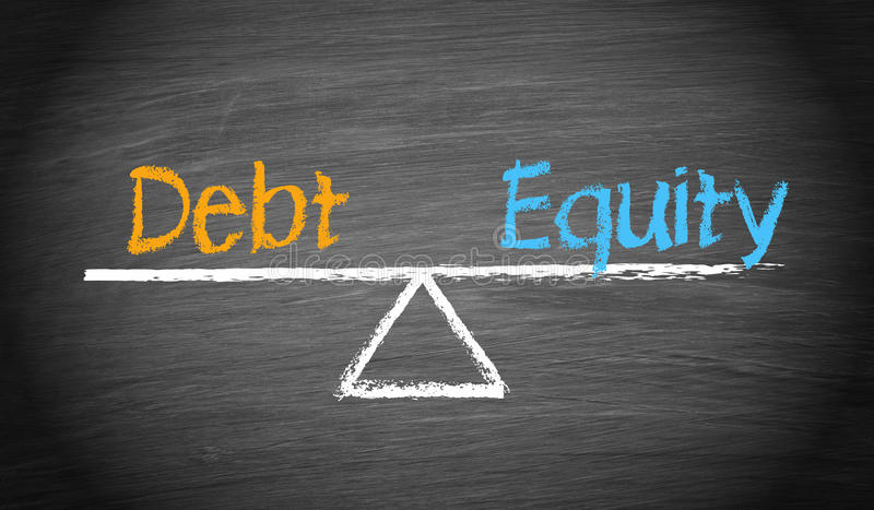 Debt and Equity vector illustration