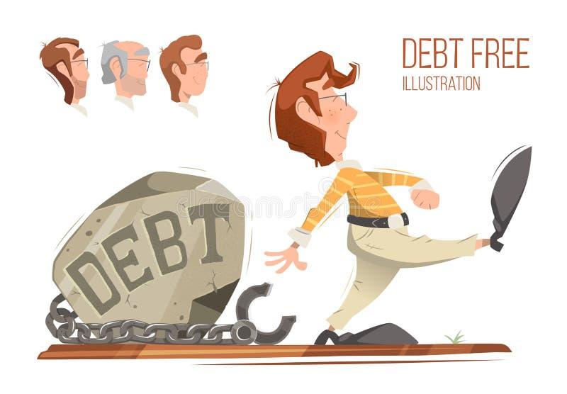 Debt free vector illustration