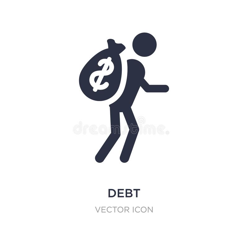 debt icon on white background. Simple element illustration from Business and analytics concept royalty free illustration