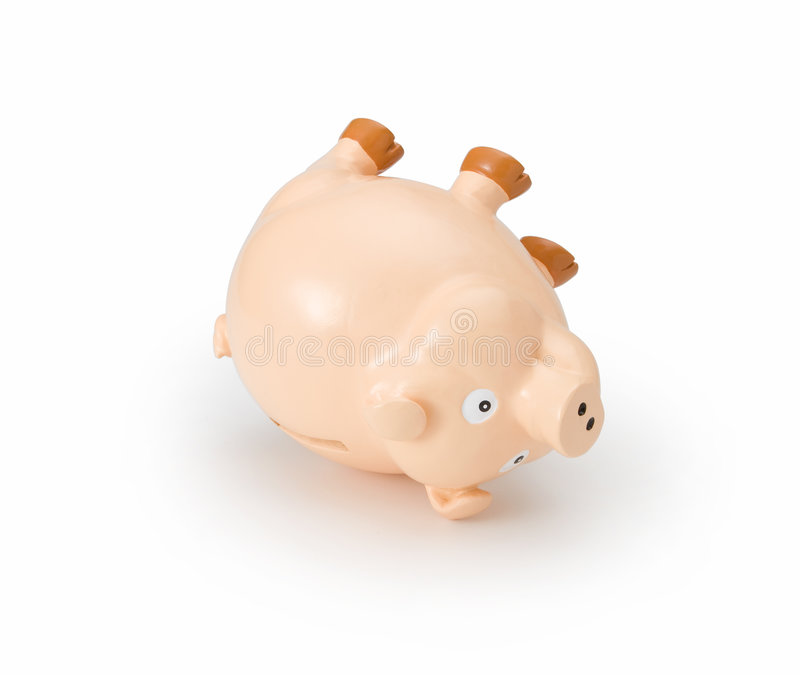 Debt Piggy Bank Crisis Failure stock images
