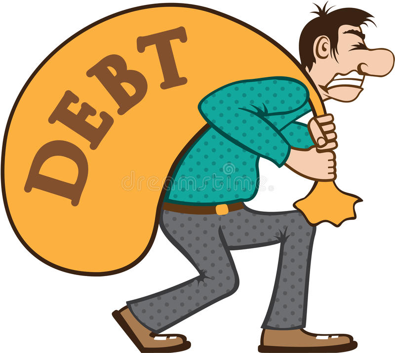 debt pressure load struggle stock vector illustration of bill rh dreamstime com esp clipart eps clip art + for sale