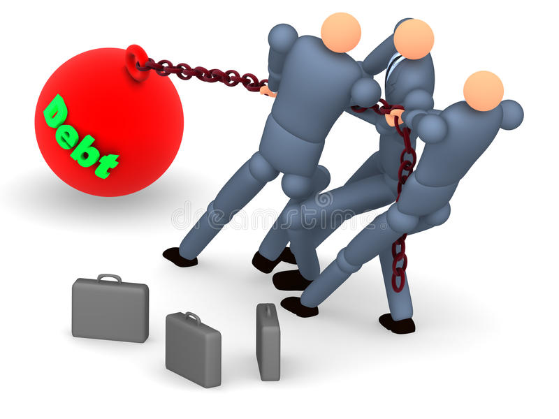 Download Debt project 2 stock illustration. Illustration of carry - 19406923
