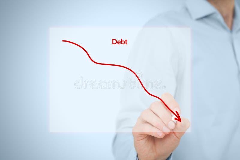 Debt reduction royalty free stock photos
