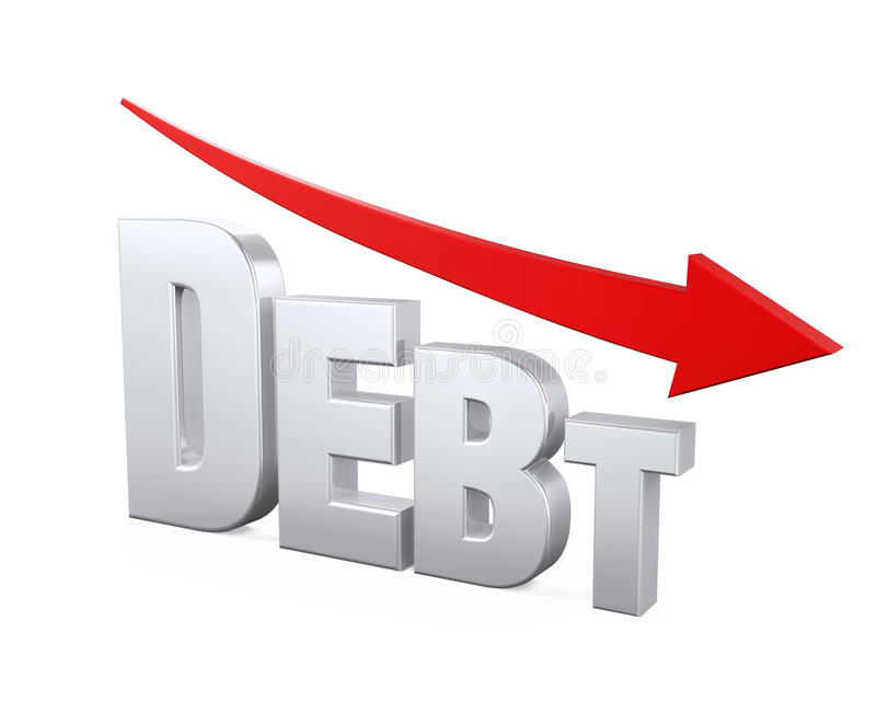 Debt Reduction Concept stock illustration