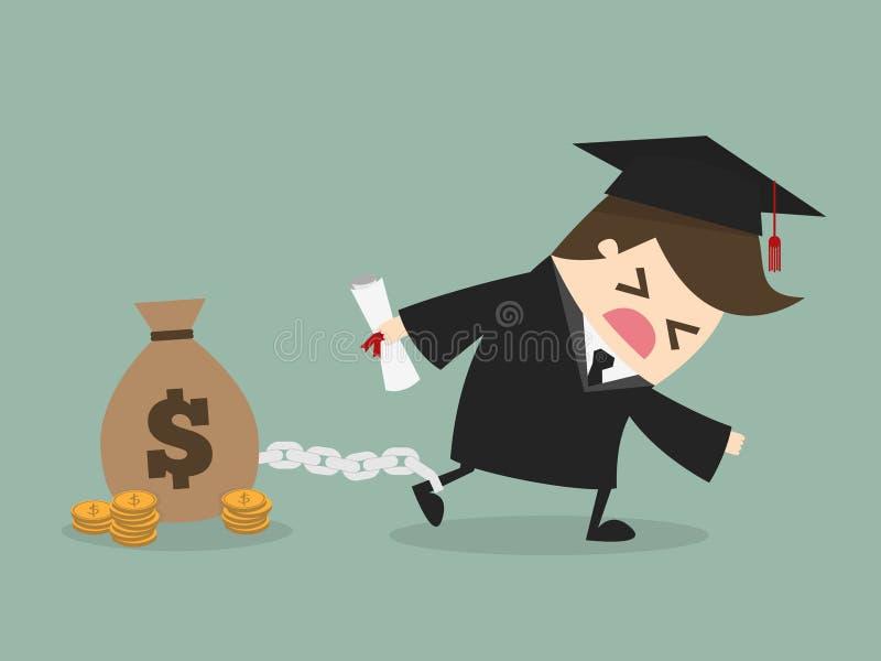 Debt vector illustration