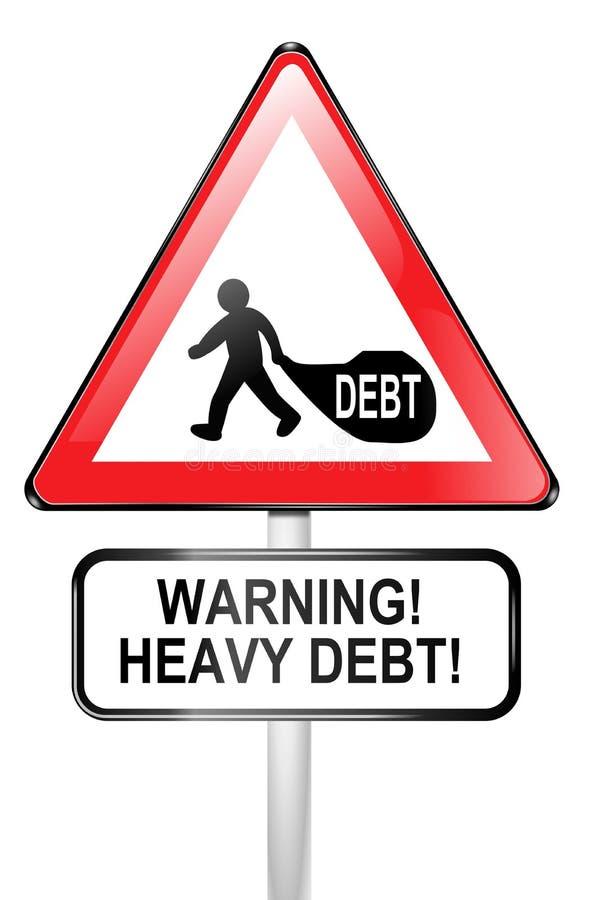 Download Debt warning. stock illustration. Image of recession - 22141282