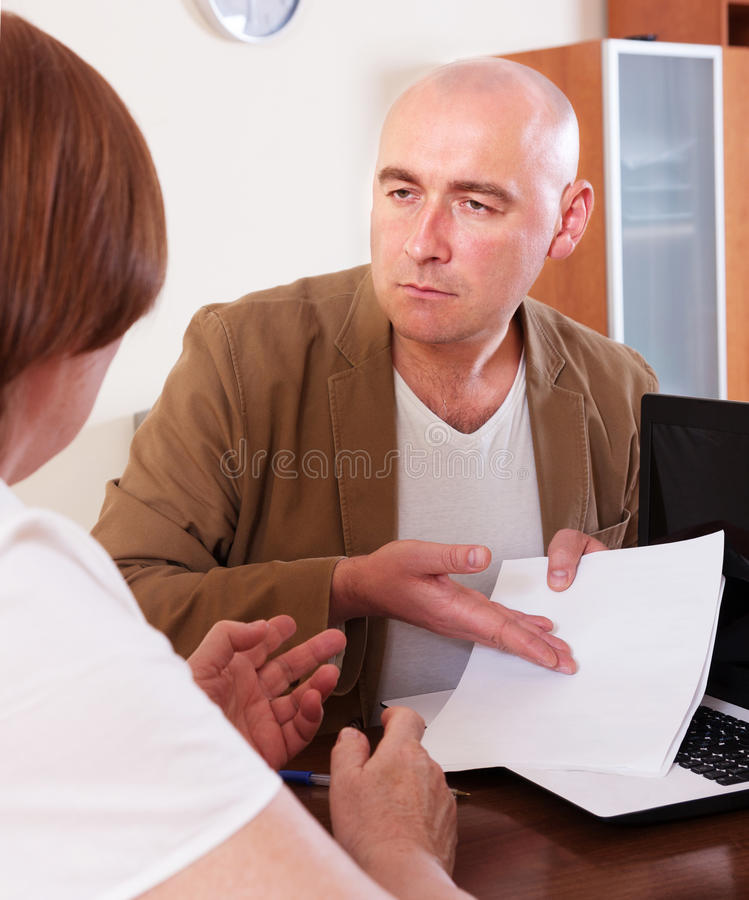 The debts from woman royalty free stock photo