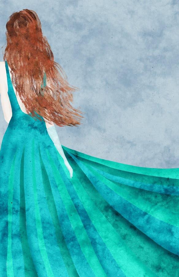Debutante collage royalty free illustration