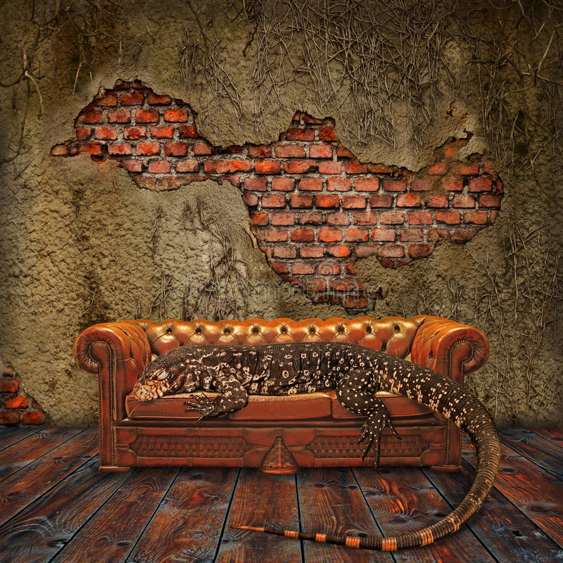 Download Decadence In The Living Room Stock Illustration - Illustration: 14271081