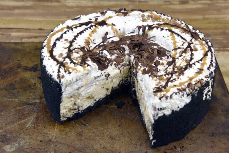 Decadent Ice Cream Cake stock photography