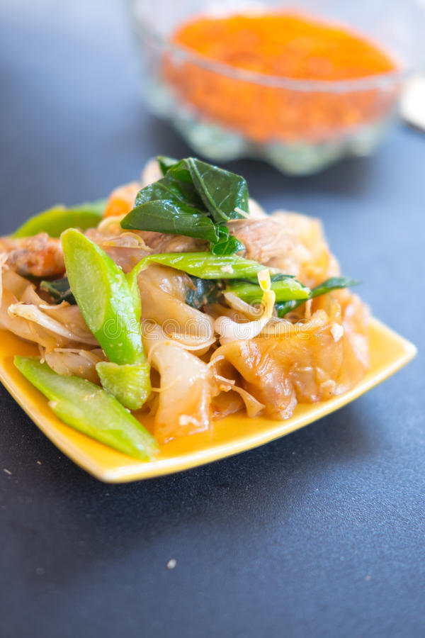 Decadent thai chicken stir fry royalty free stock images