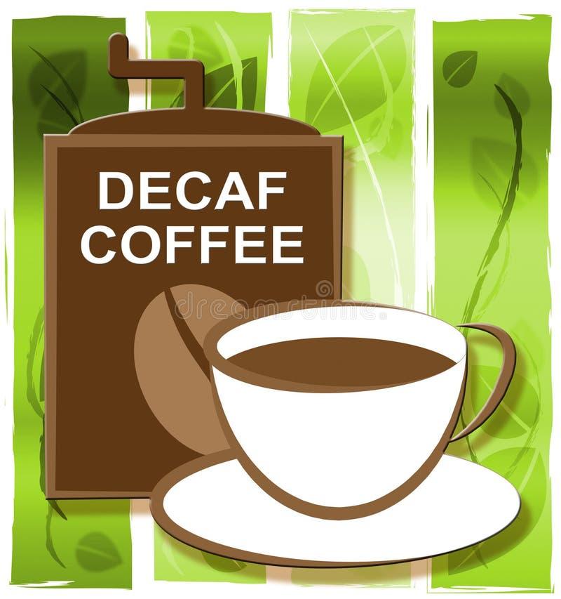Decaf-Kaffee stellt Restaurant-Cafeteria und Getränke dar stock abbildung