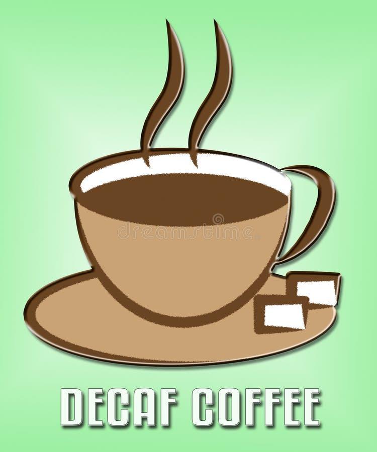 Decaf-Kaffee-Vertretungs-Restaurant-Cafeteria und Getränke stock abbildung