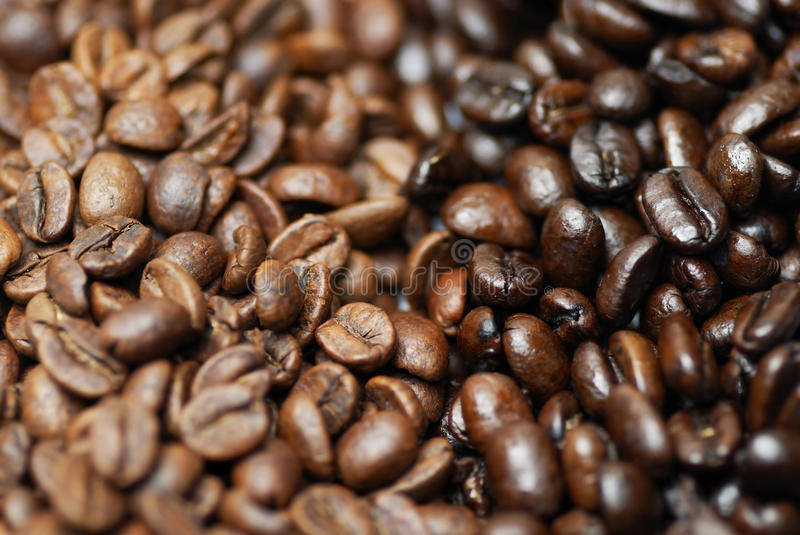 Download Decaffinated And Caffinated Coffee Beans. Stock Image - Image: 21232551