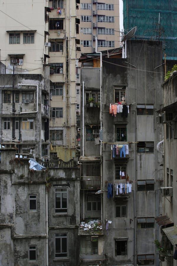 Decaimiento urbano de Hong-Kong fotos de archivo libres de regalías