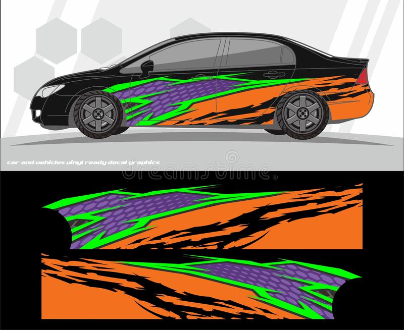 Decal σχέδια εξαρτήσεων αυτοκινήτων και γραφικής παράστασης οχημάτων έτοιμος να τυπώσει και περικοπή για τις βινυλίου αυτοκόλλητε απεικόνιση αποθεμάτων