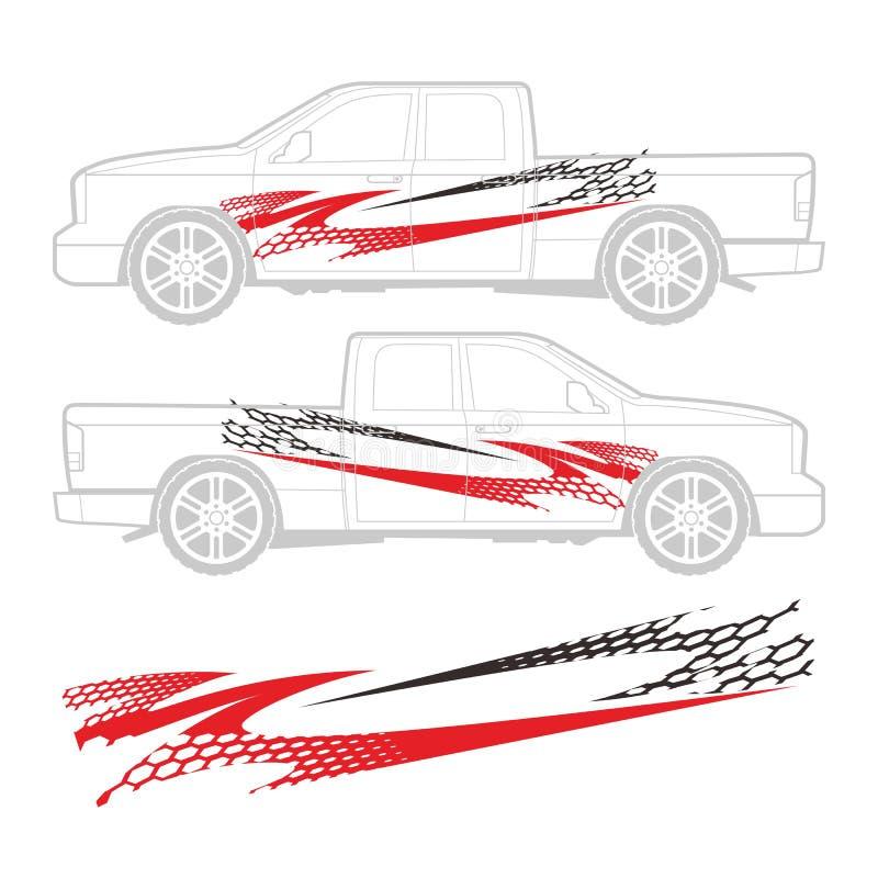 Decalque do carro ilustração royalty free