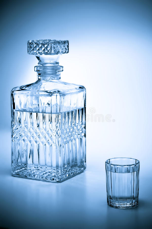 Download Decanter and shot stock photo. Image of cold, vodka, tequila - 23412844