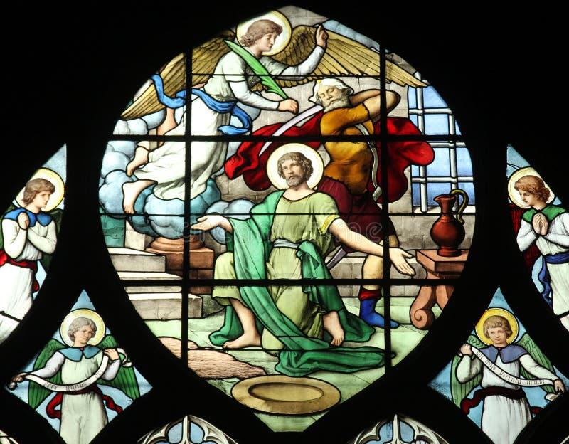 Decapitação de John The Baptist fotos de stock royalty free