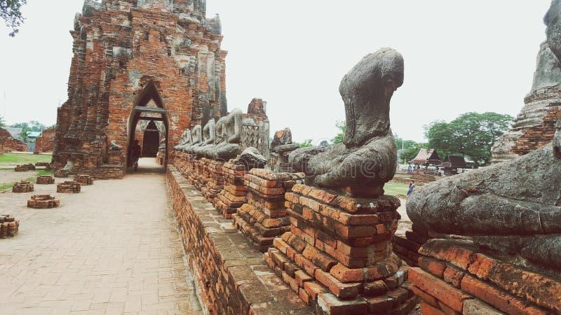 Decapitated Buddhas obraz royalty free