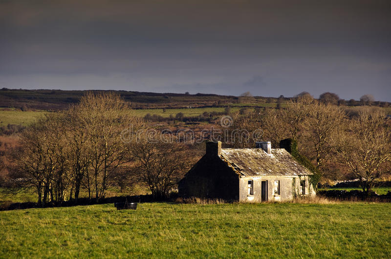 Decay Cottage In Rural Ireland Countryside Royalty Free Stock Image
