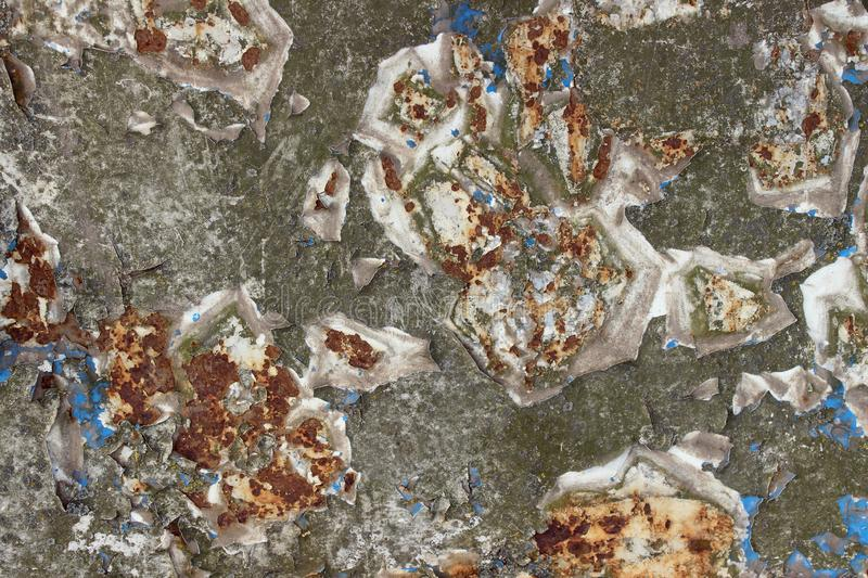Decay Metal Background. Decay Steel.Old Wall Texture. Rust On An Old Wall Background. stock images