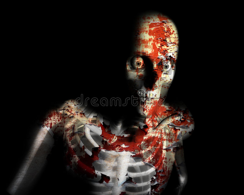 Decay Zombie. A conceptual Halloween image of a decaying zombie vector illustration
