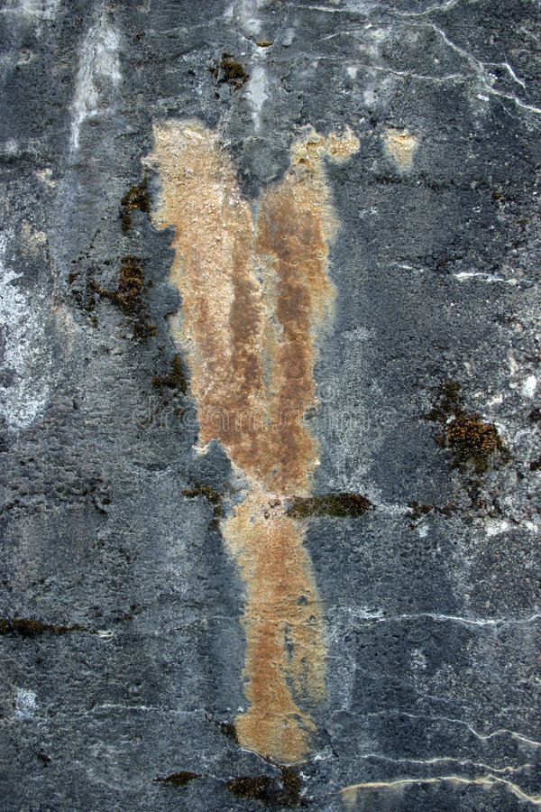 Decayed concrete royalty free stock image