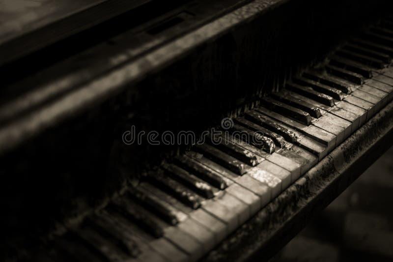 Decayed Piano Keys royalty free stock photography