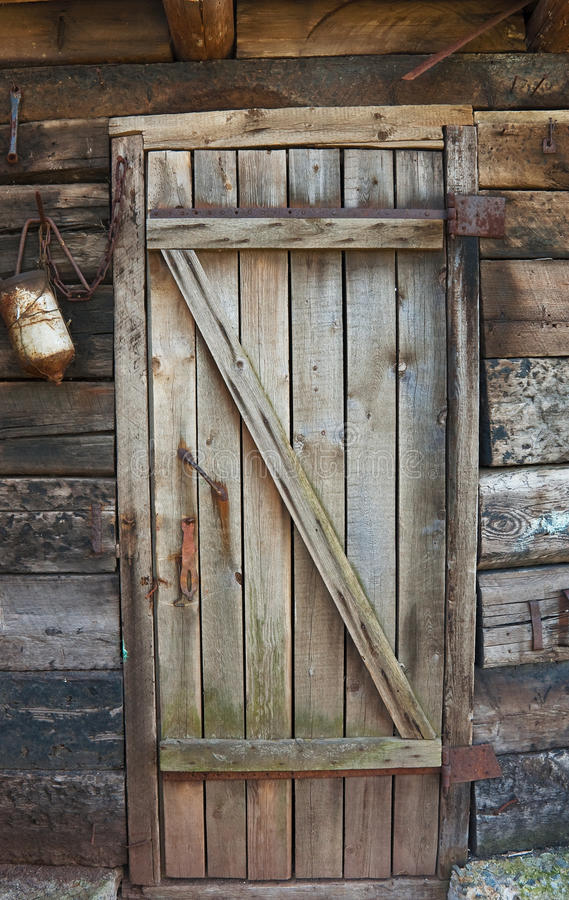 Decayed wooden door royalty free stock image