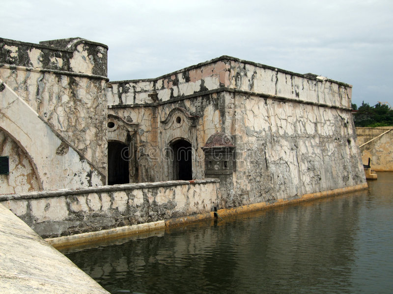 Decaying Colonial Fort stock images