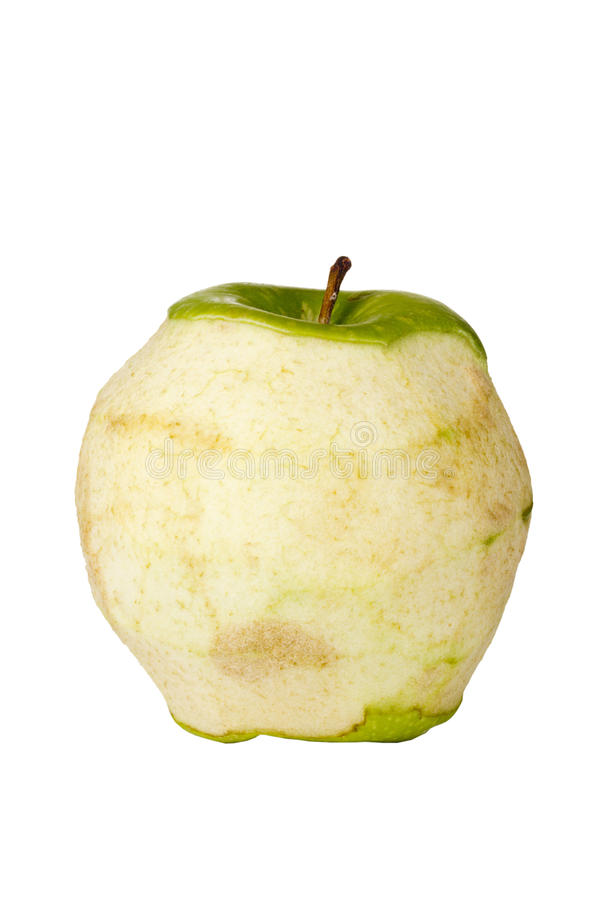 Decaying Granny Smith Apple Stock Photography
