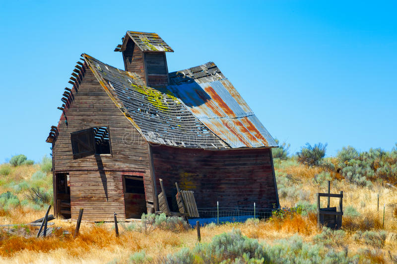 Decaying old wooden Barn royalty free stock images