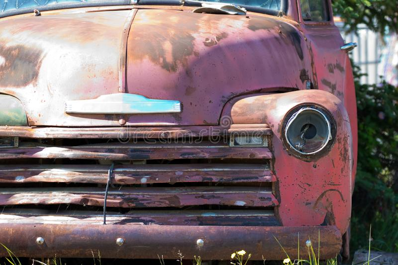 Decaying Rusting Old Vintage Truck stock images