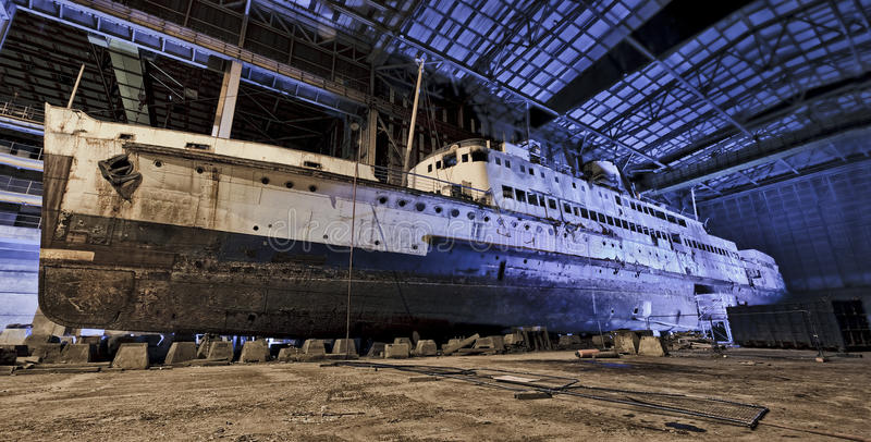 Decaying Ship royalty free stock photography
