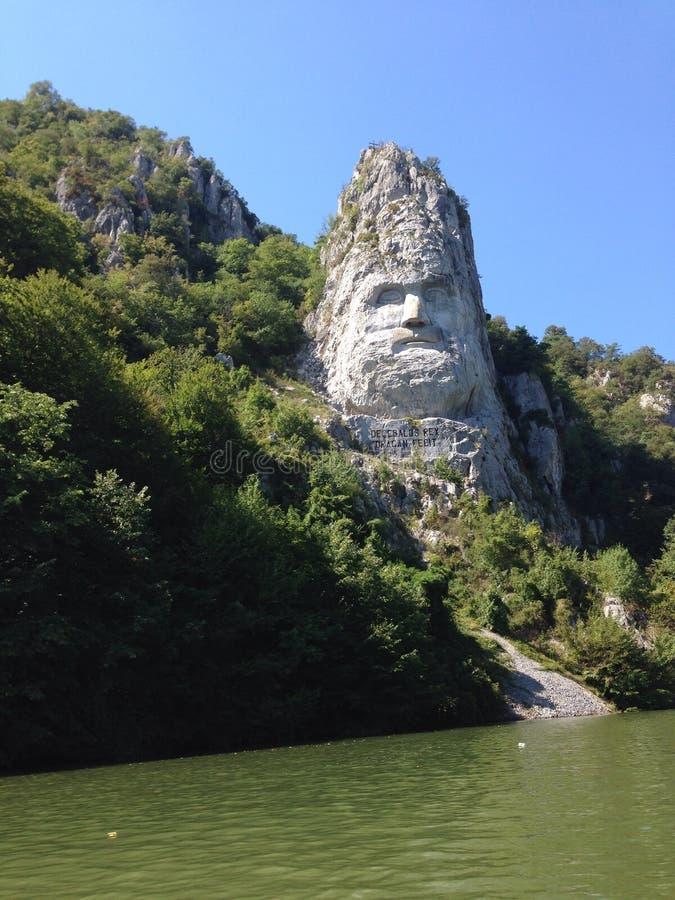 Decebal多瑙河山 库存照片