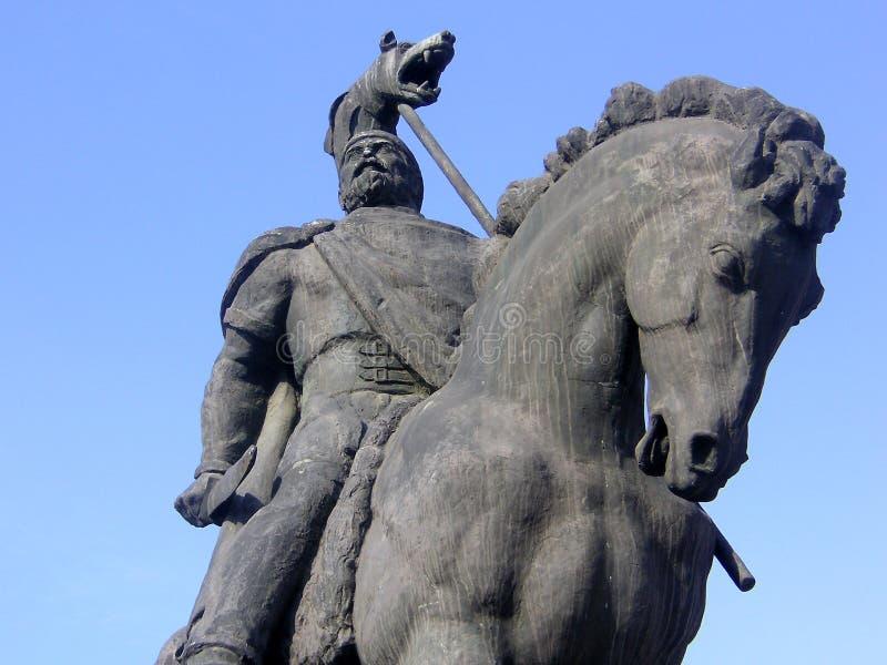 Decebal`s statue. royalty free stock photo