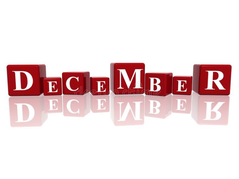 Download December in 3d cubes stock illustration. Illustration of light - 13496295