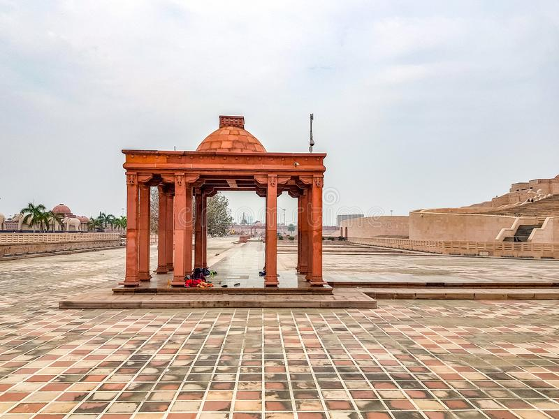 December 15.2019. The ambedkar memorial park of lucknow. It is a massive area of stonework in the city of lucknow and a royalty free stock image