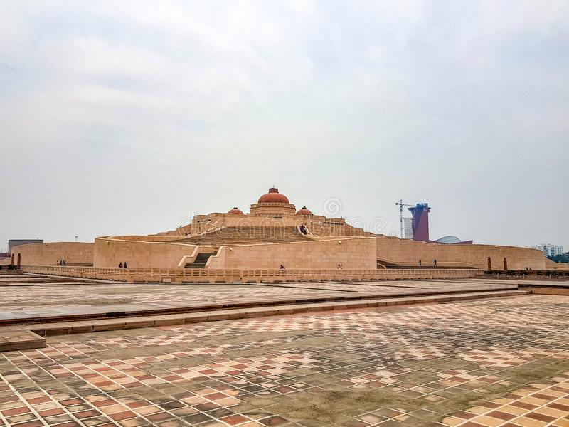December 15.2019. The ambedkar memorial park of lucknow. It is a massive area of stonework in the city of lucknow and a stock images