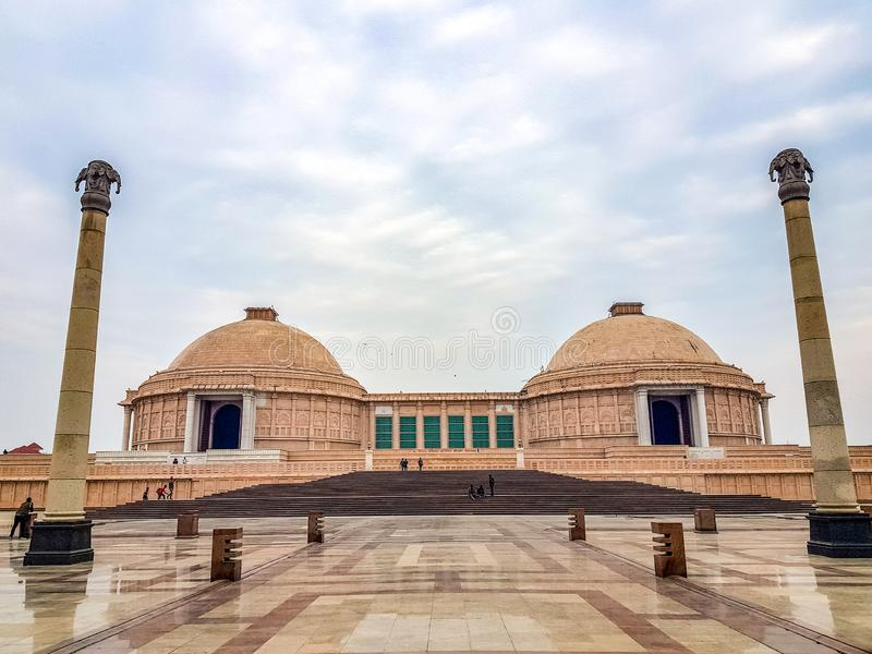 December 15.2019. The ambedkar memorial park of lucknow. It is a massive area of stonework in the city of lucknow and a royalty free stock photos