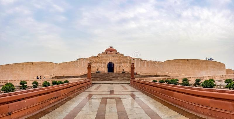 December 15.2019. The ambedkar memorial park of lucknow. It is a massive area of stonework in the city of lucknow and a royalty free stock images