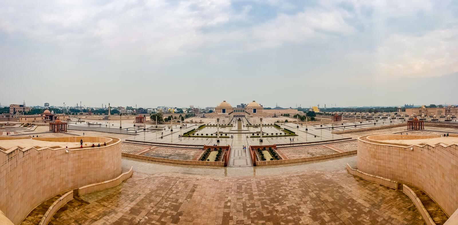 December 15.2019. The ambedkar memorial park of lucknow. It is a massive area of stonework in the city of lucknow and a royalty free stock photo