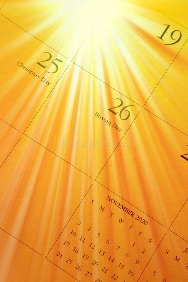 December Calendar Royalty Free Stock Image