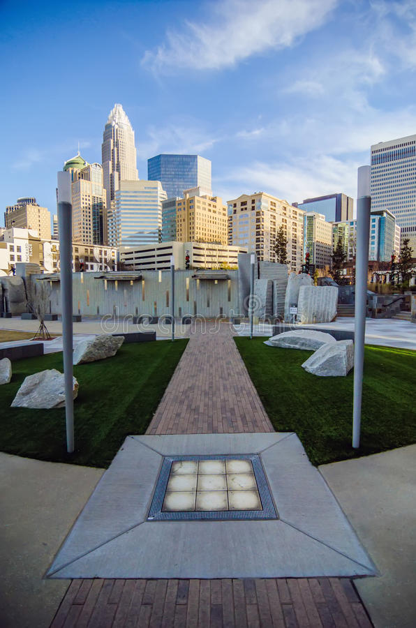 December 27, 2013, Charlotte, Nc - View Of Charlotte Skyline At Editorial Stock Photo