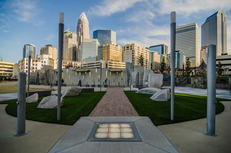 Download December 27, 2013, Charlotte, Nc - View Of Charlotte Skyline At Editorial Stock Image - Image: 36341824