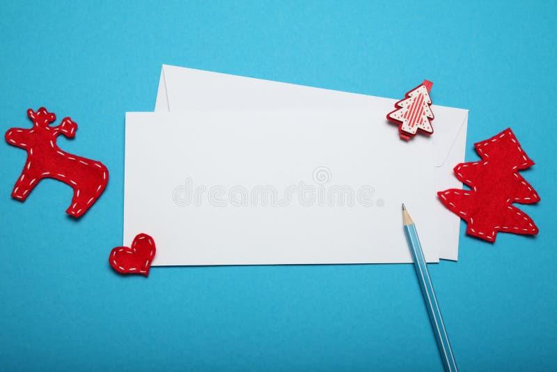 December christmas list. Santa Claus letter.  royalty free stock photos